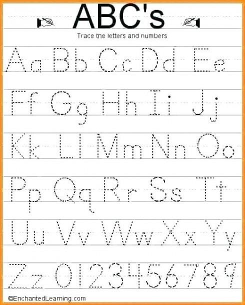 Lowercase Tracing Worksheet Kindergarten Alphabet Worksheets For