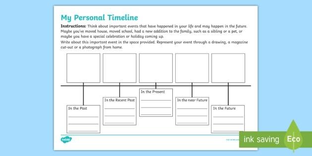 My Personal Timeline Worksheet Teacher Made