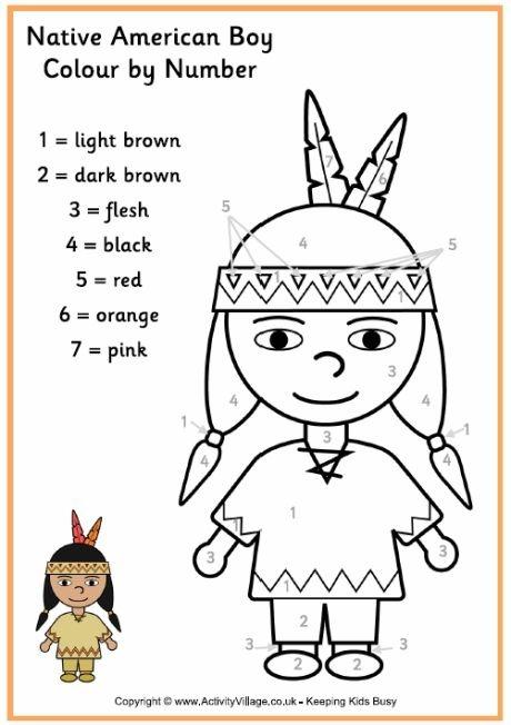 Native American Worksheet For Kids