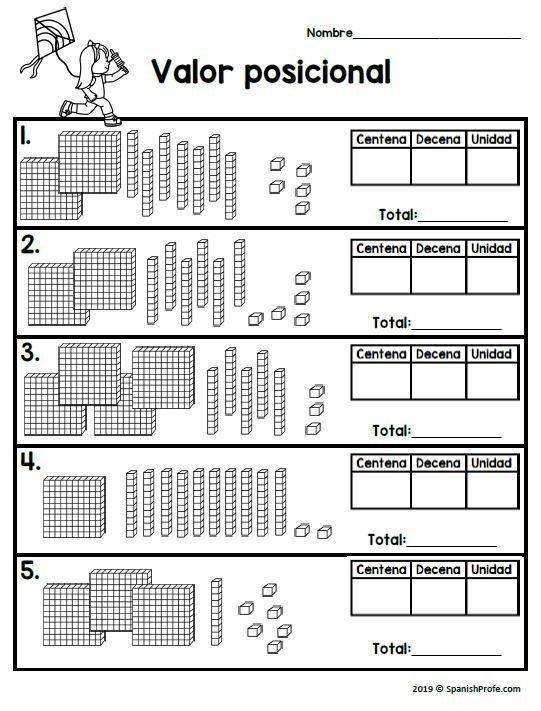 Nd Grade Math In Spanish March Hojas Matematicas Segundo