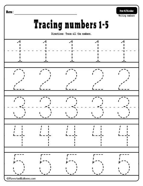 Numbers Tracing Worksheets Free Preschool Number Adding Math Games