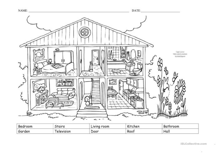 Parts Of The House English Esl Worksheets For Distance Learning