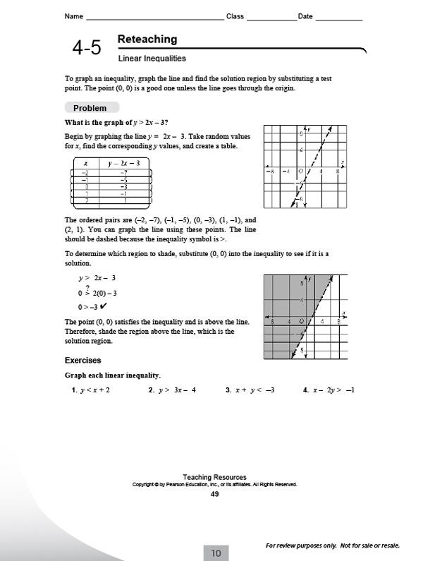 Pearson Education Inc Worksheet Answers English Math Worksheets