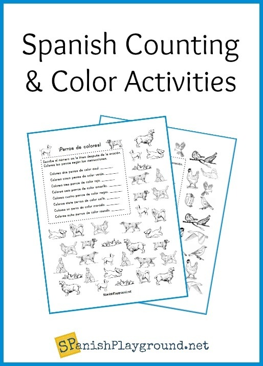 Printable Spanish Counting Activities