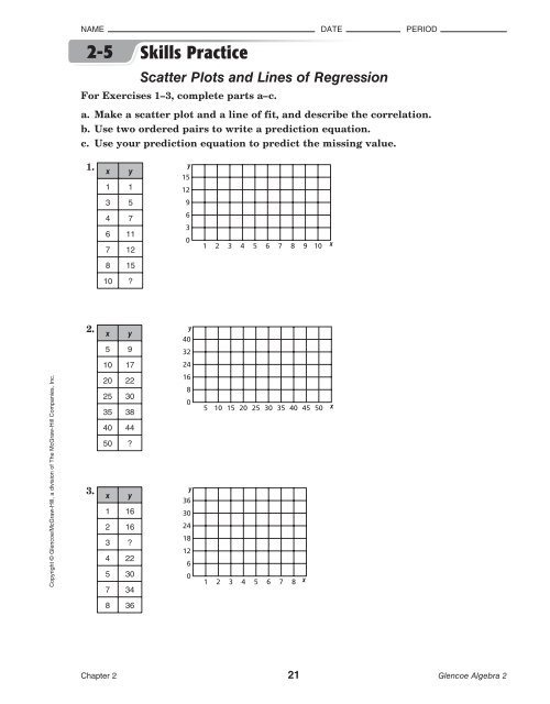 Scatterplots And Line Of Best Fit Worksheet Pdf