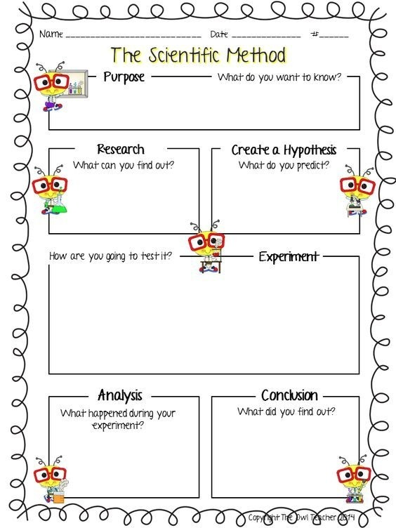 Scientific Method Science Process Skills Lessons Worksheets For
