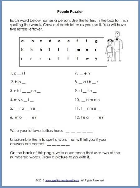Second Grade Worksheets For Language