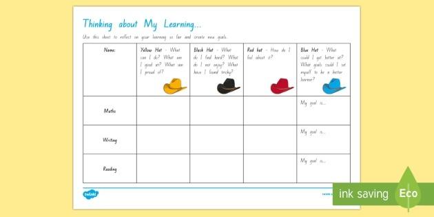 Self Reflection And Goal Setting Worksheet Teacher Made