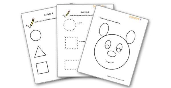Shape Worksheets For Preschoolers