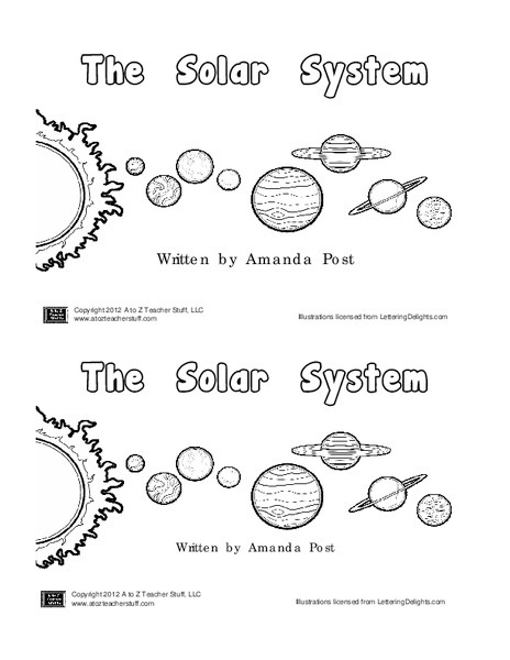 Solar System Book Printables Template For Pre Nd Grade Worksheets