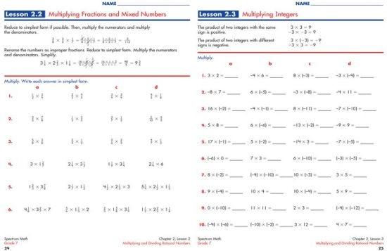 Spectrum Math Workbook  Grade  By Spectrum  Paperback