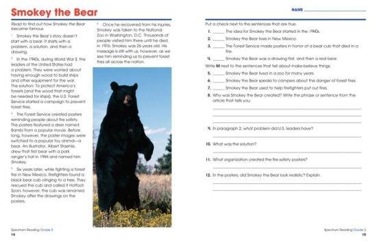 Spectrum Reading Workbook  Grade  By Spectrum  Paperback