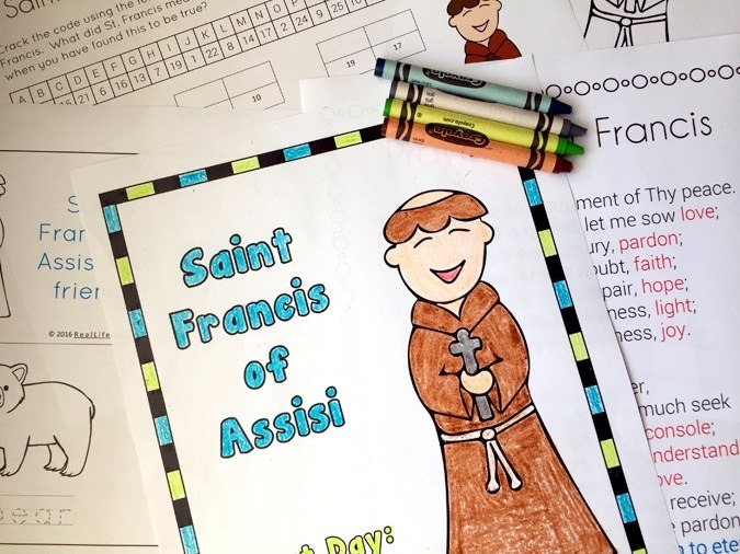 St Francis Of Assisi Printables And Worksheet Packet