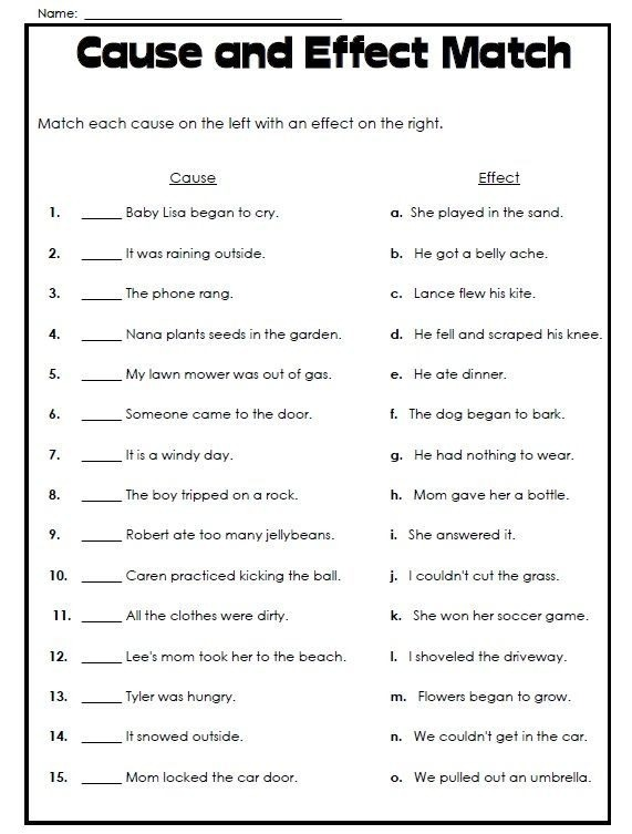 Super Teacher Worksheets Has Printable Cause And Effect Parts Of