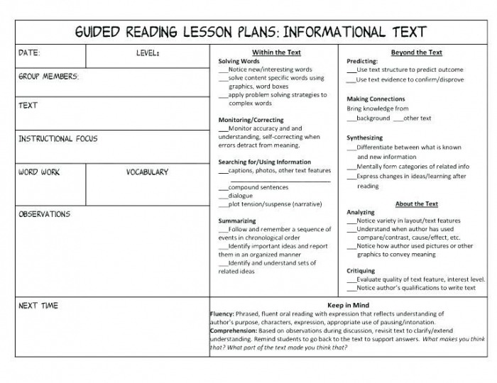 Text Structure Worksheets For Middle School Lesson Plans Future