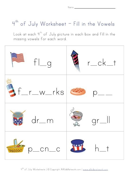 Th Of July Worksheets For Kids Re