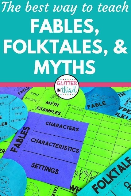 The Best Way To Teach Fables  Folktales  And Myths In Rd Grade