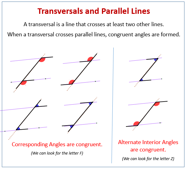 Transversal And Parallel Lines Problems Examples  Solutions