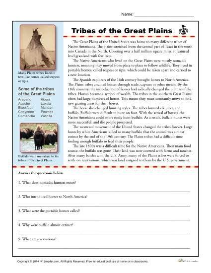 Native American Worksheets 3rd Grade - Worksheets Master
