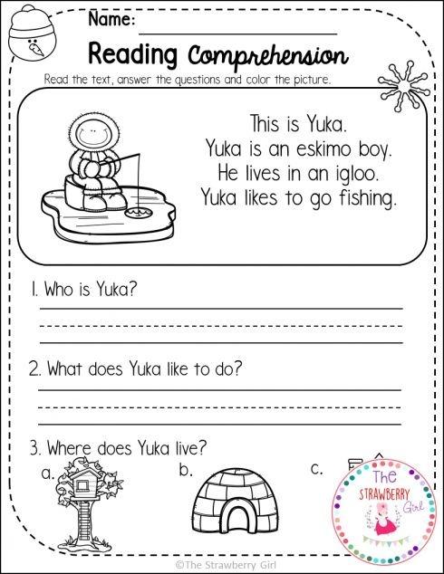 Wh Questions Worksheet For Kindergarten
