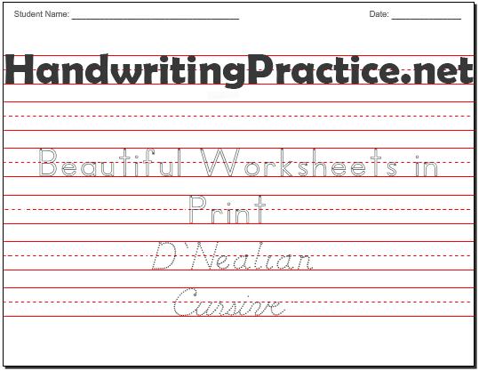 Worksheet  Handwriting Worksheets Name Title Worksheet Make