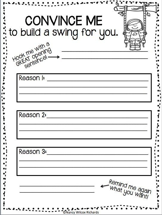 Writing Activity For Kids Printable Persuasive Writing Worksheets