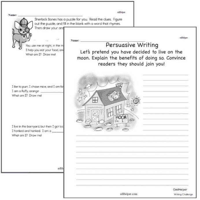 Writing Worksheets For Creative Kids Free Pdf Printables Nd Grade