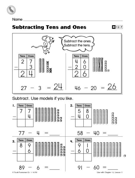 Adding Tens And Ones Worksheets Free Worksheets Kg Learning Games