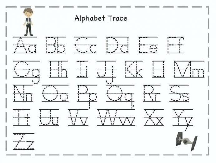 Alphabet Tracing Worksheets For Year Shapes Printables Name Olds