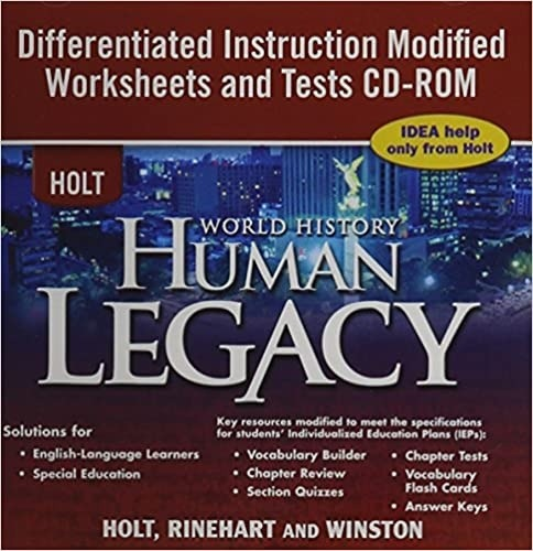 Amazoncom Holt World History  Cd