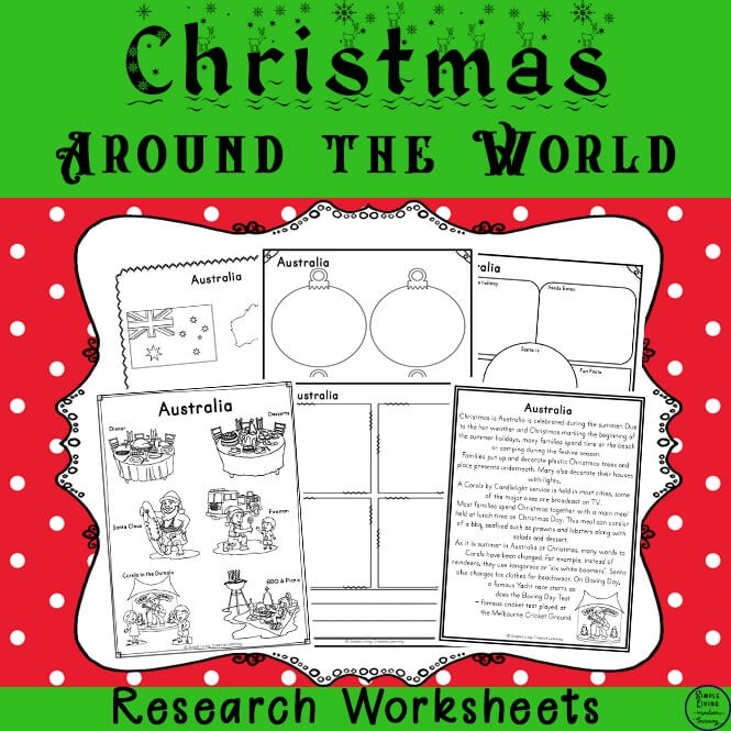 Christmas Around The World Research Printables