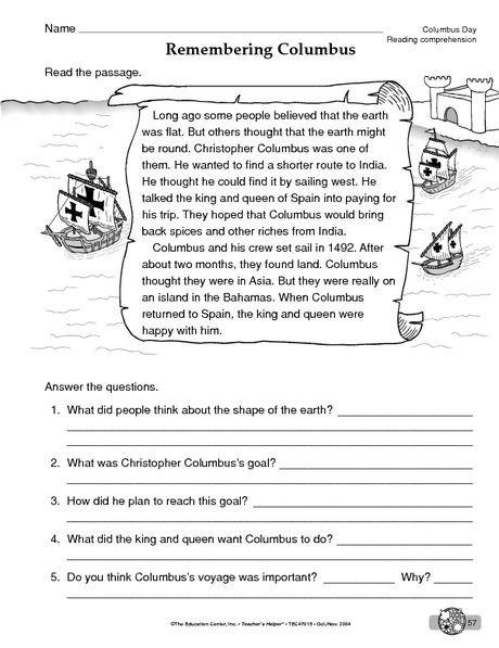 Christopher Columbus Worksheets Worksheets Cool Math For School