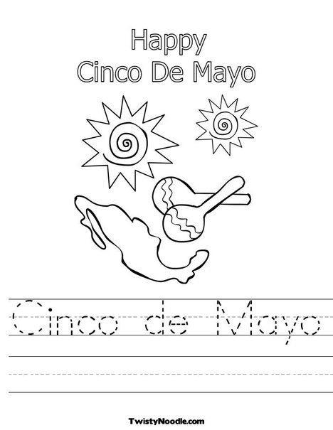 Cinco De Mayo Worksheet