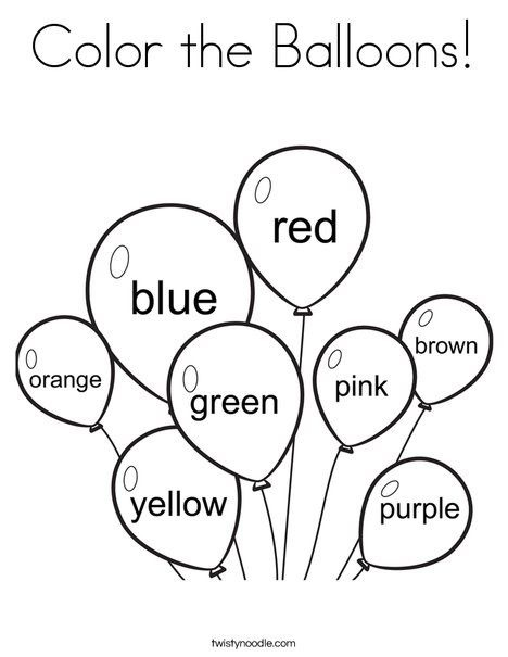 Color The Balloons Coloring Page