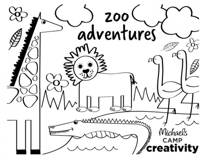 Coloring Creativity Zoo For Preschoolers Pre Learning Worksheets