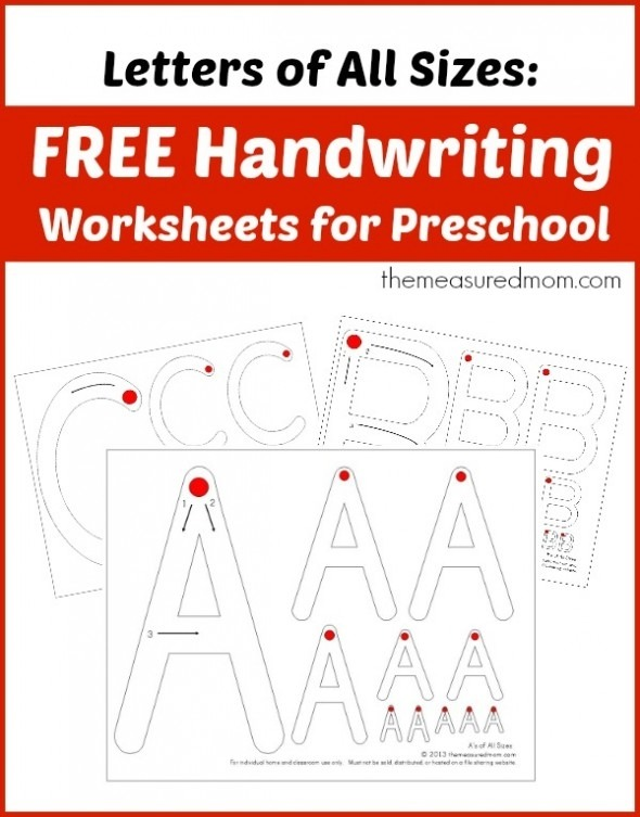 Coloring Pages  Free Handwriting Worksheets For Preschool Letters