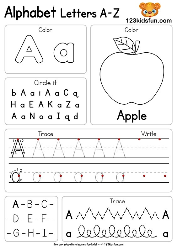 Coloring Pages  Letter S Printable Worksheets Preschool Cut And