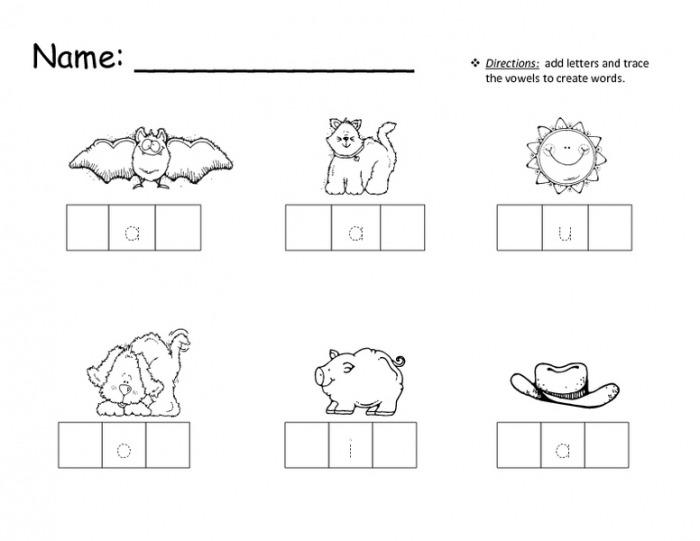 Coloring Pages  Letter Words Kindergarten Worksheets Cvc