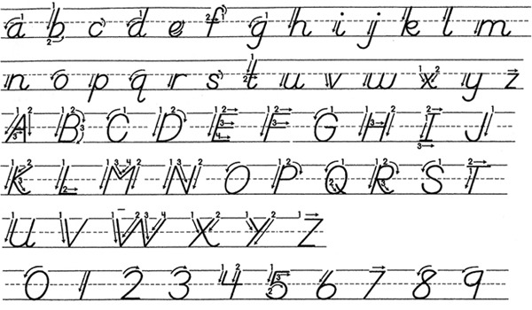 Coloring Pages  Orig Dnealian Handwriting Grymes