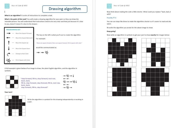 Computing Computer Science Worksheets Hour Of Code Binary