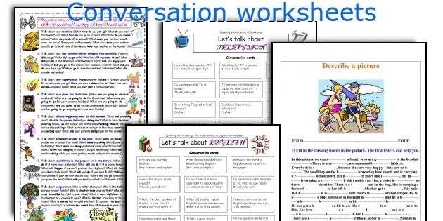 Conversation Worksheets Learning English Fractions Revision