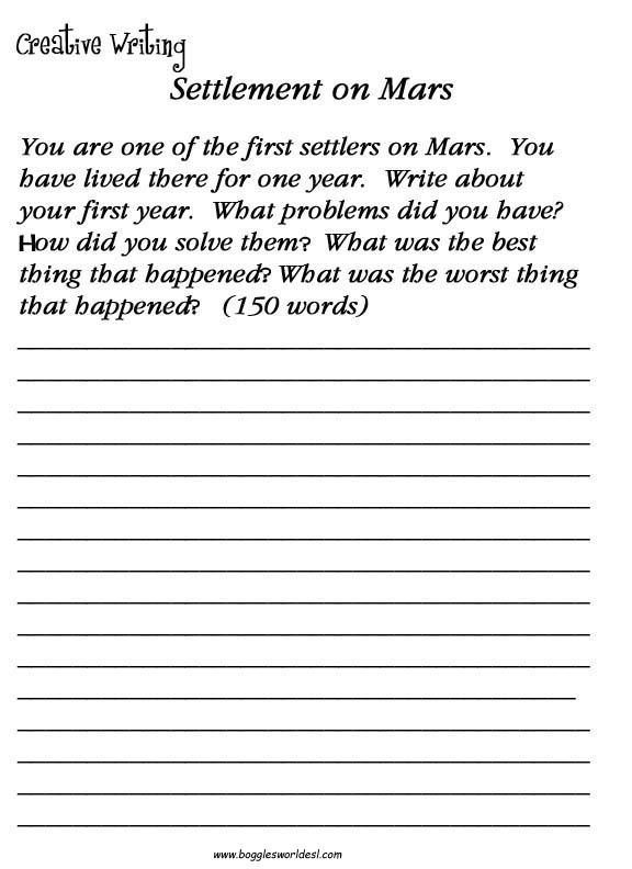 Creative Writing Worksheets Ks