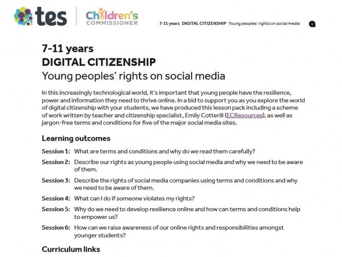 Digital Citizenship Young Peoples Rights On Social Media