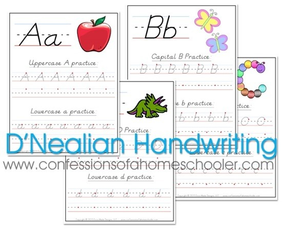 Dnealian Handwriting Worksheets