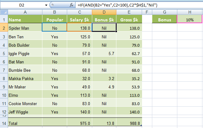 Excel If And Or Functions Explained  My Online Training Hub