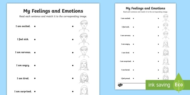 Feelings And Emotions Worksheets Worksheets Fourth Grade