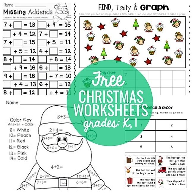 Festive Christmas Worksheets For K   St
