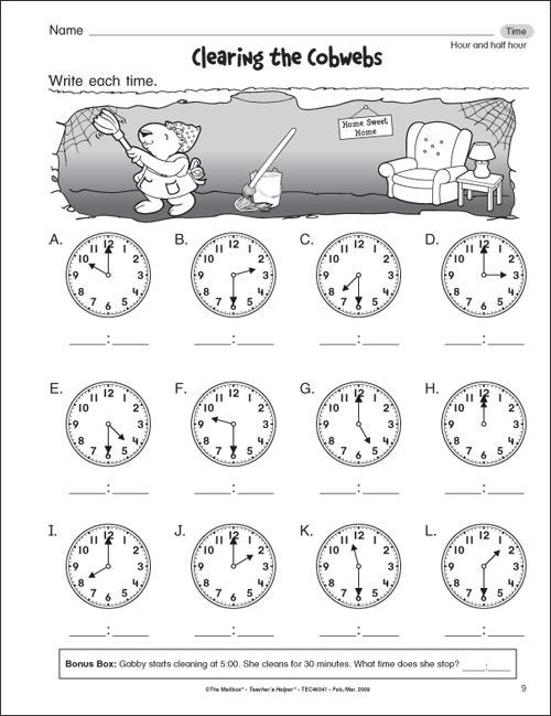 First Grade Math Get Free St Worksheets For The With Images Time