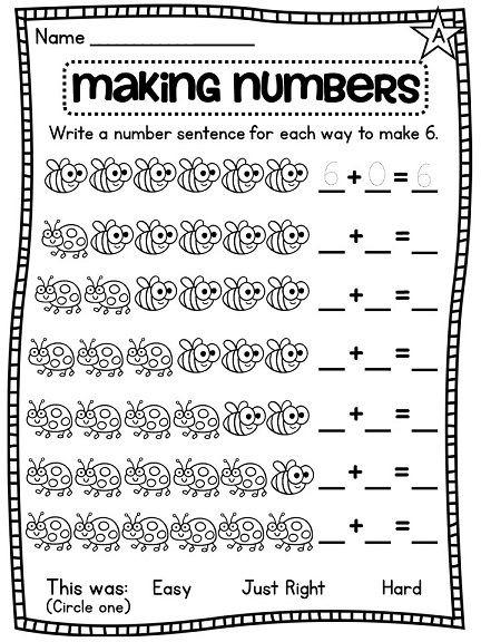 First Grade Math Unit  Number Sense  Part Part Whole  Number