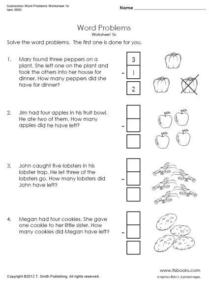First Grade Problem Solving Worksheets